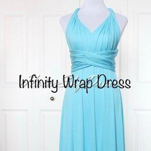 Cyan Blue Infinity Dress